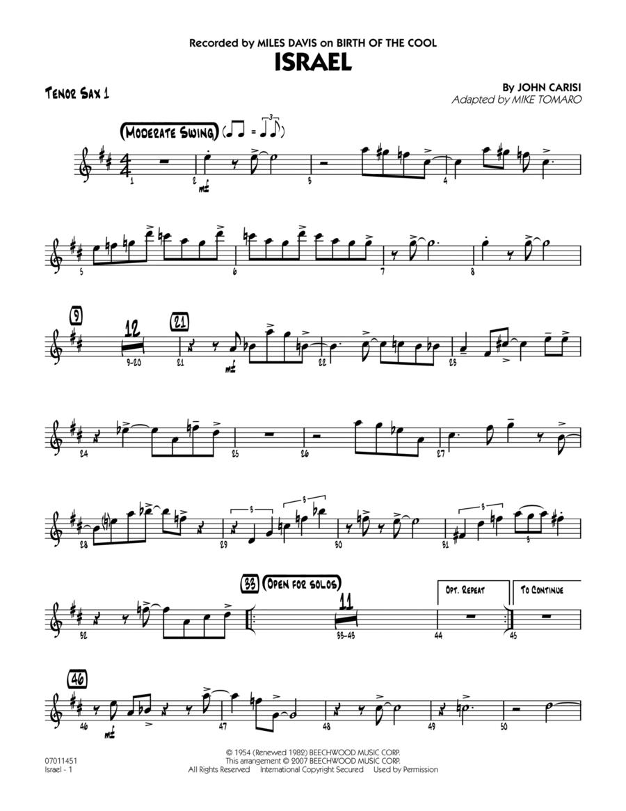Israel - Tenor Sax 1