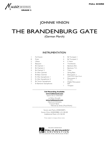 The Brandenburg Gate (German March) - Full Score