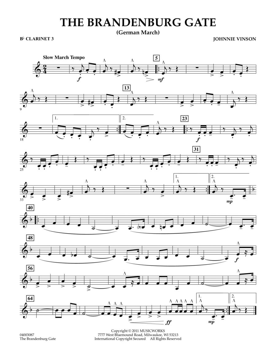 The Brandenburg Gate (German March) - Bb Clarinet 3