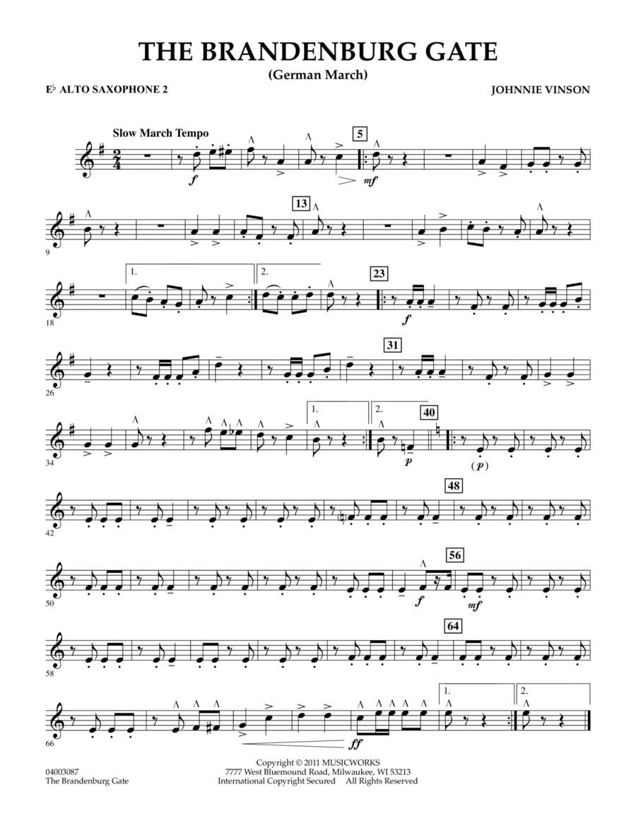 The Brandenburg Gate (German March) - Eb Alto Saxophone 2