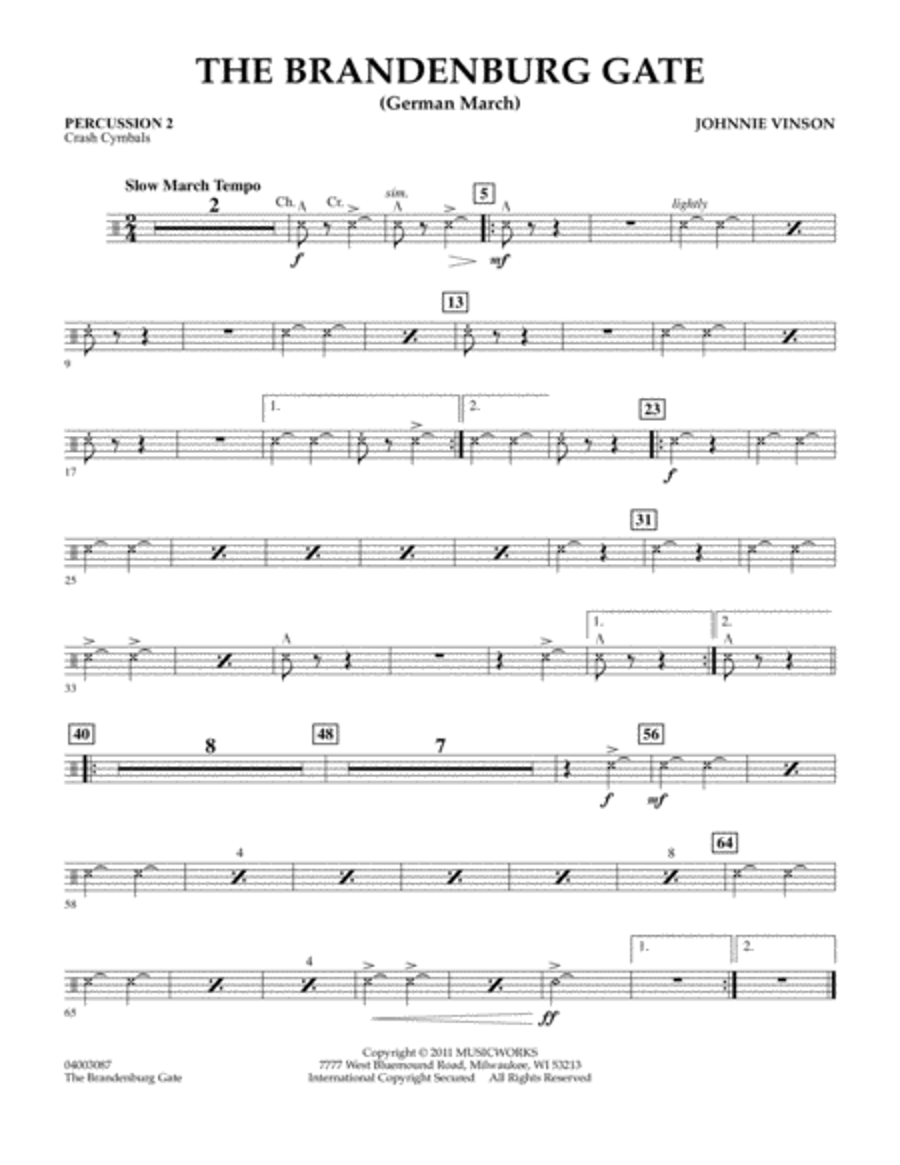 The Brandenburg Gate (German March) - Percussion 2