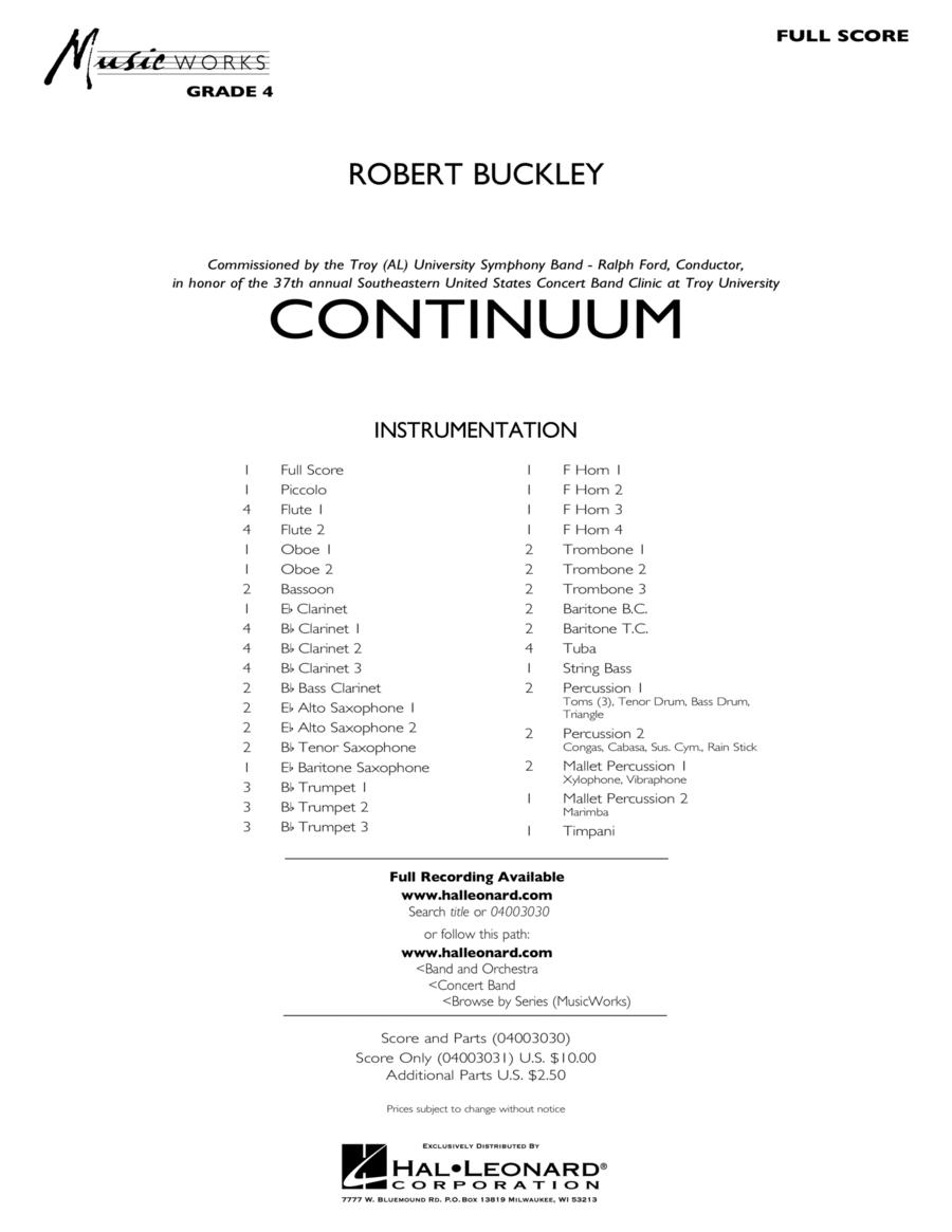 Continuum - Full Score