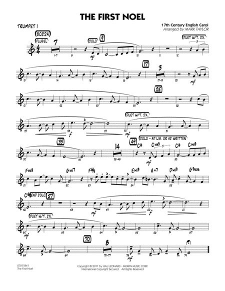 The First Noel - Trumpet 1