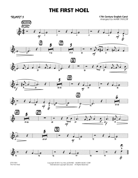 The First Noel - Trumpet 3