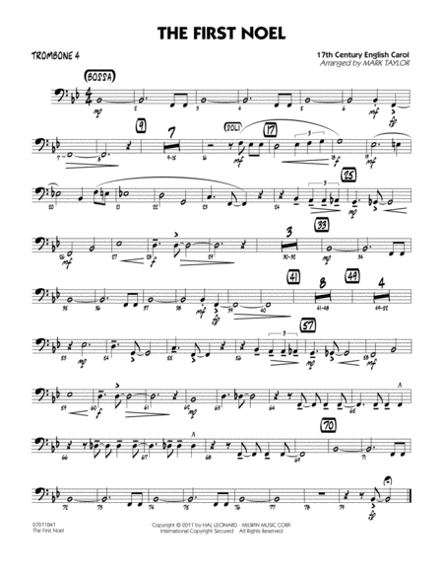 The First Noel - Trombone 4