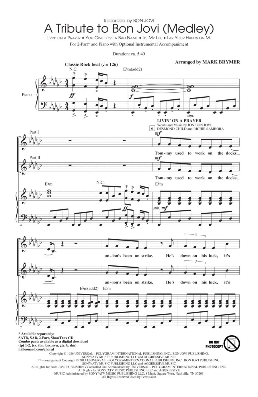 A Tribute To Bon Jovi (Medley)
