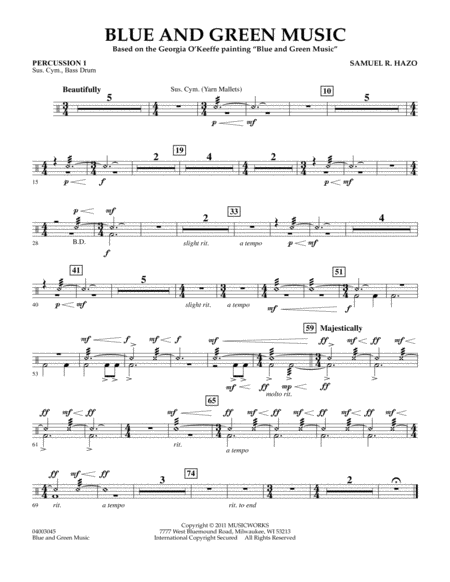 Blue And Green Music - Percussion 1