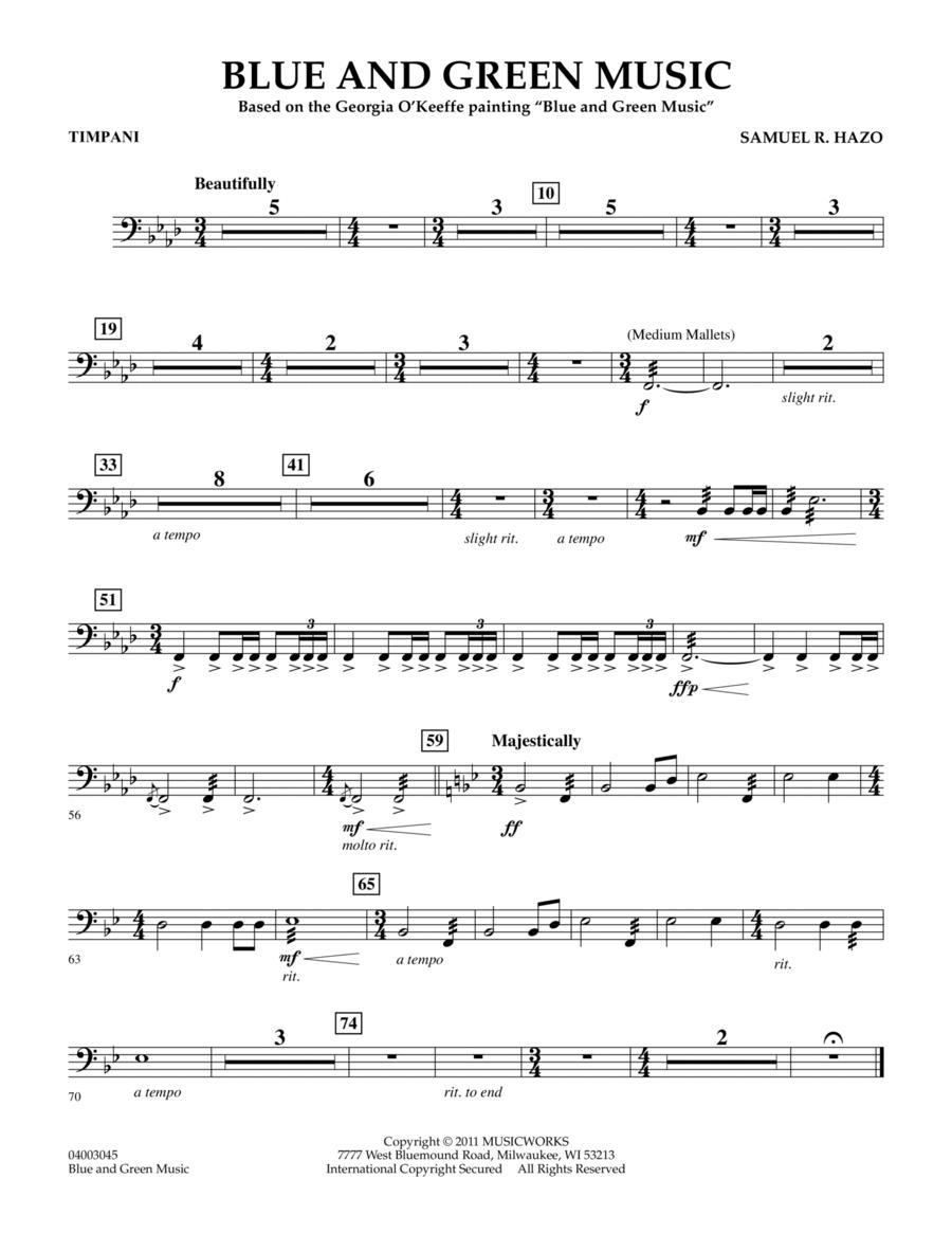 Blue And Green Music - Timpani