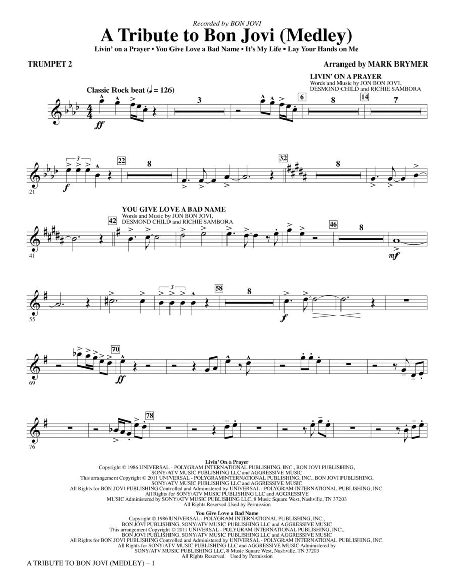 A Tribute To Bon Jovi (Medley) - Bb Trumpet 2