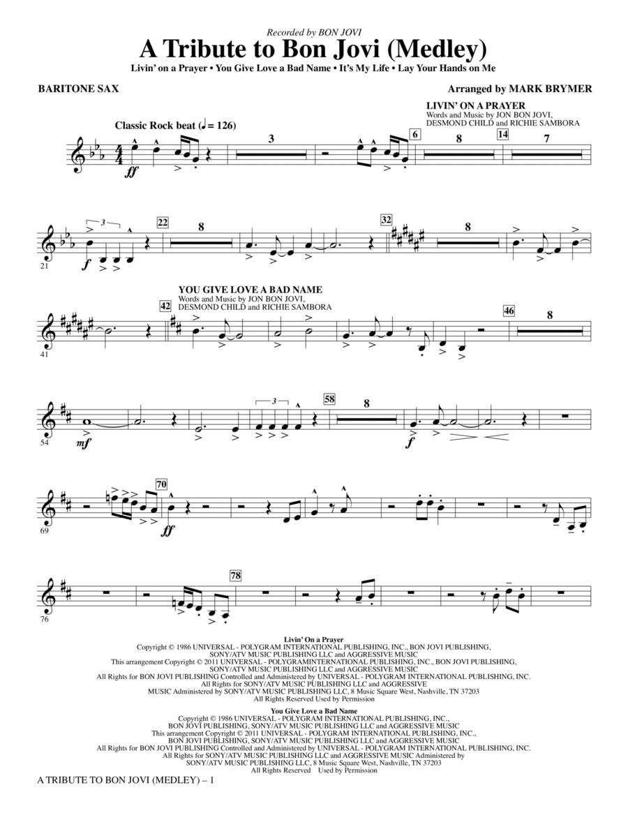 A Tribute To Bon Jovi (Medley) - Baritone Sax