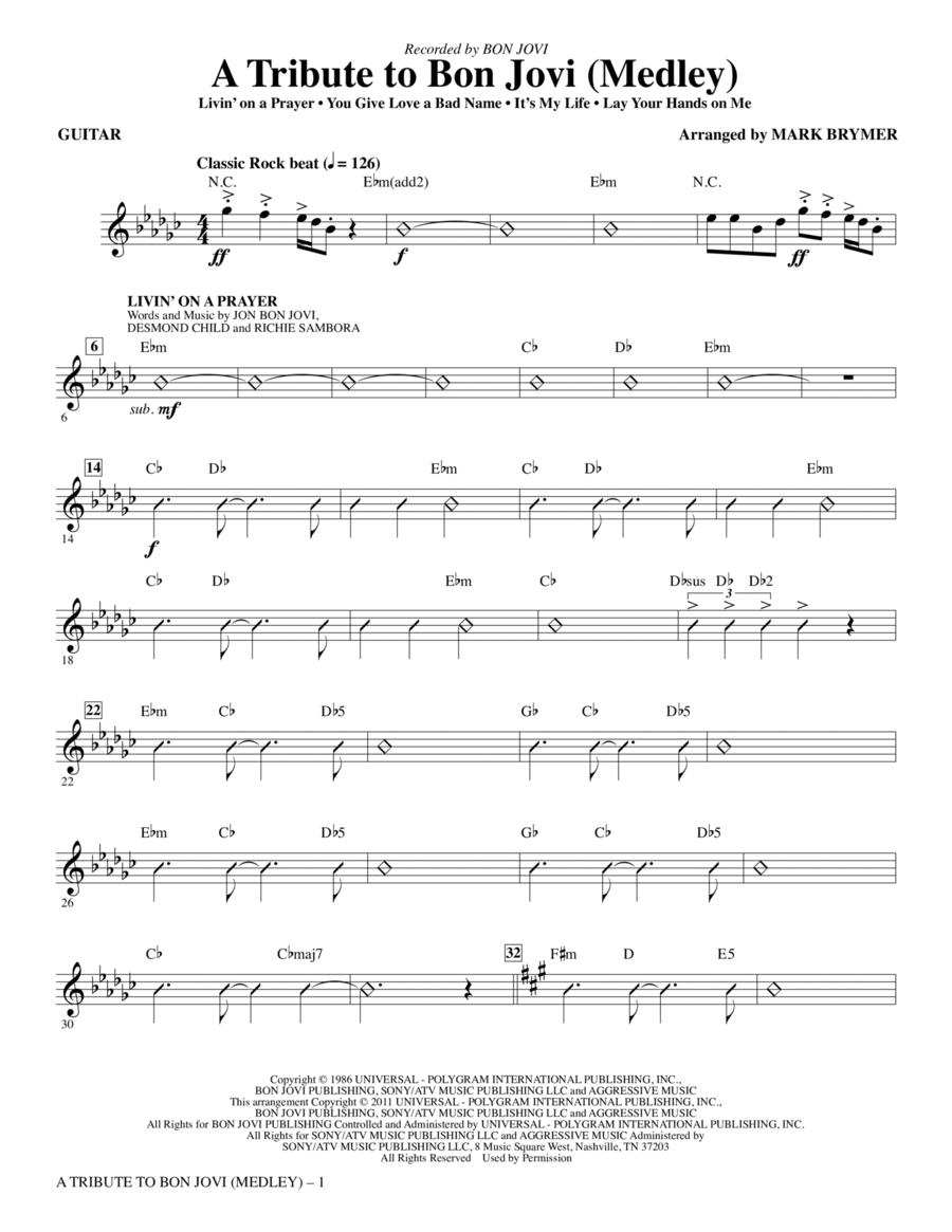 A Tribute To Bon Jovi (Medley) - Guitar