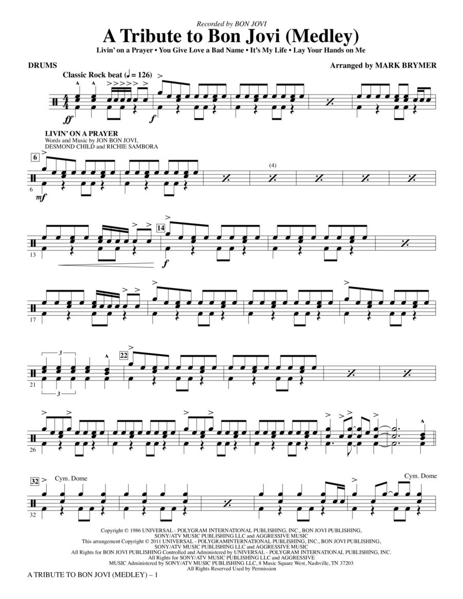 A Tribute To Bon Jovi (Medley) - Drums