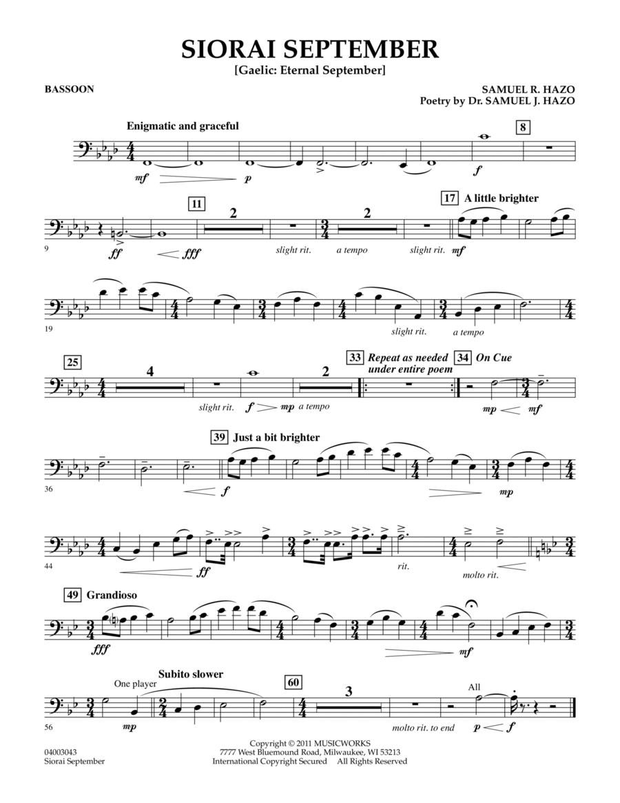 Siorai September - Bassoon