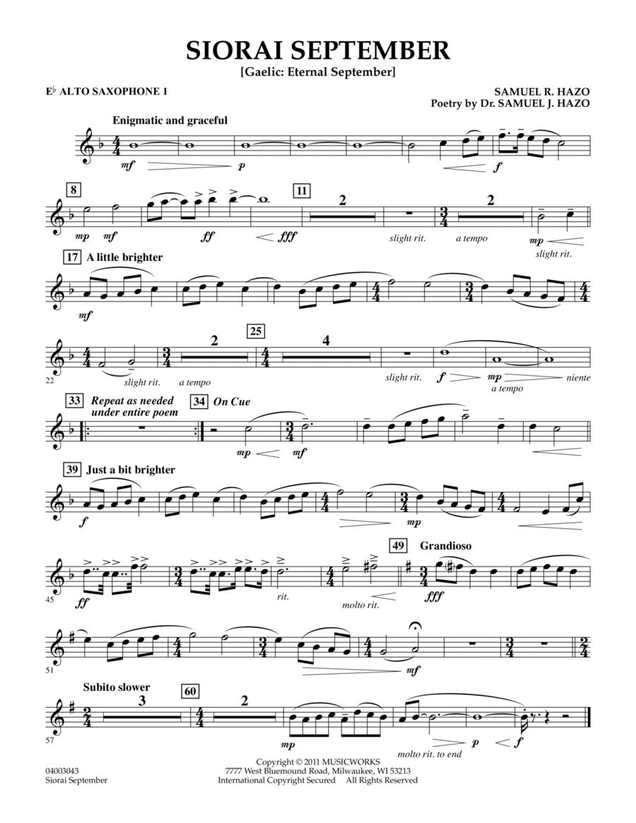 Siorai September - Eb Alto Saxophone 1
