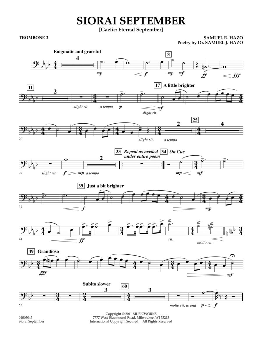 Siorai September - Trombone 2