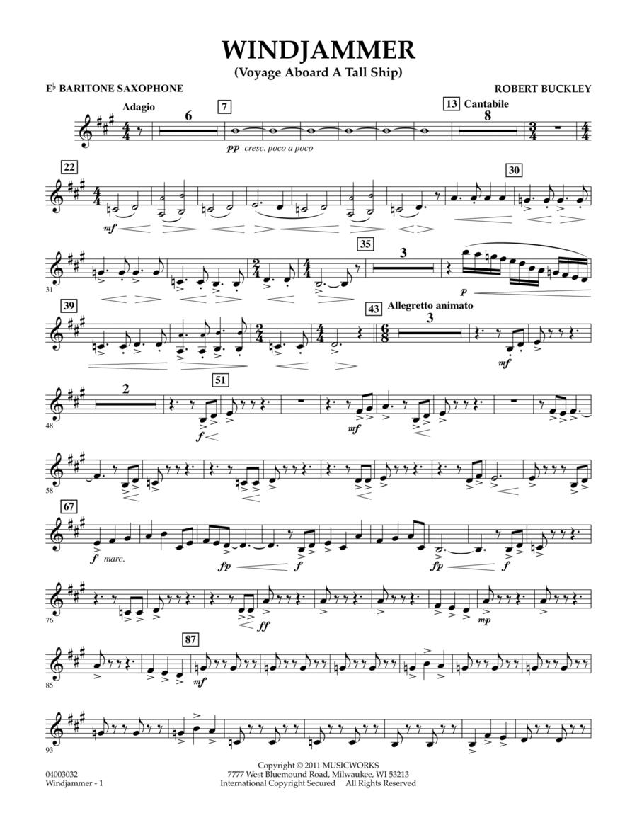 Windjammer (Voyage Aboard A Tall Ship) - Eb Baritone Saxophone