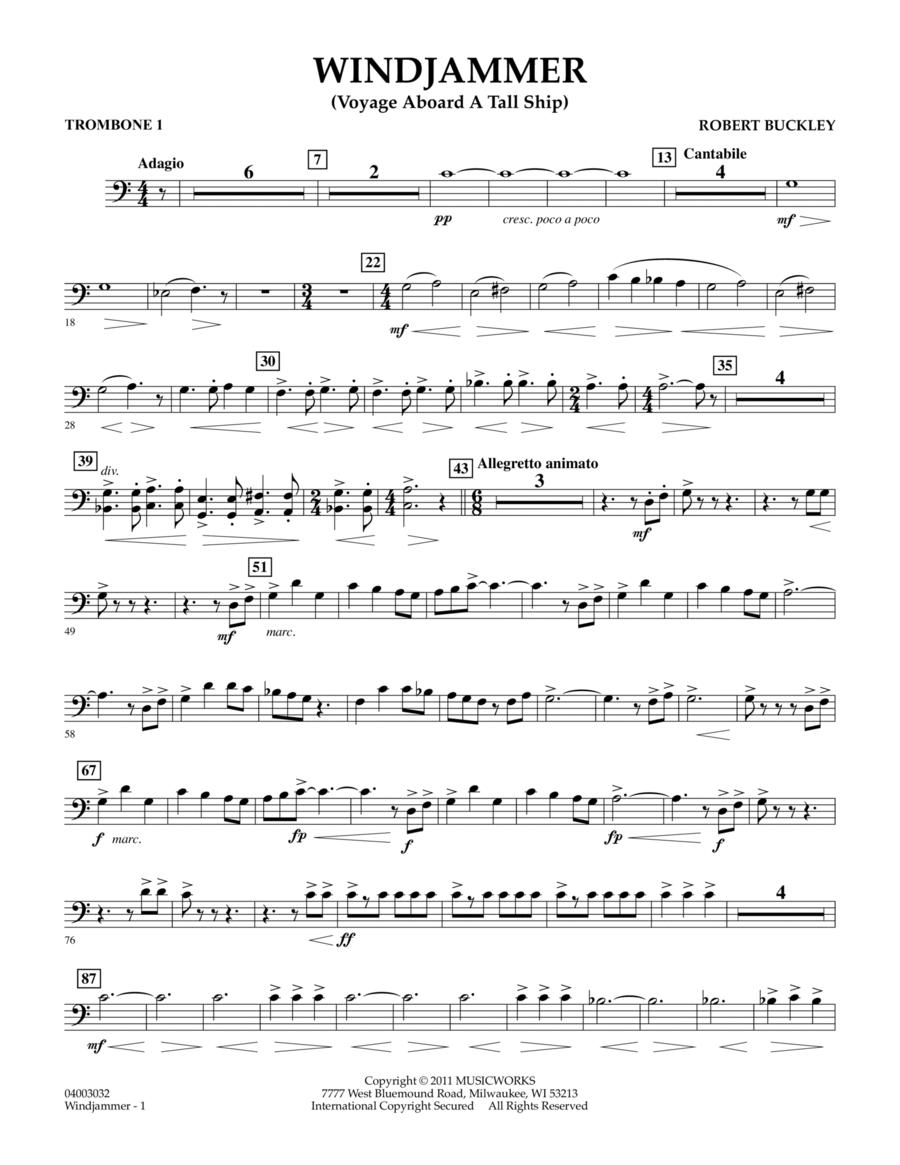 Windjammer (Voyage Aboard A Tall Ship) - Trombone 1
