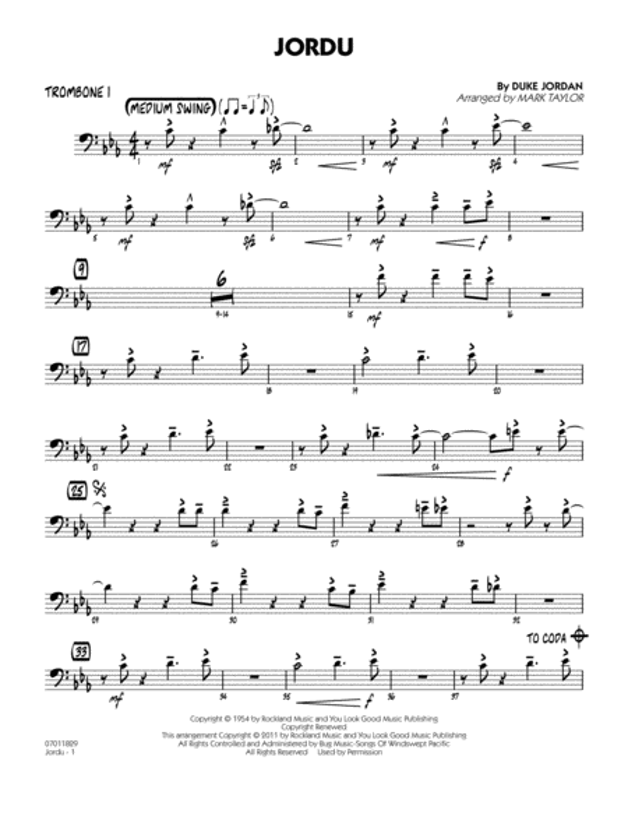 Jordu - Trombone 1
