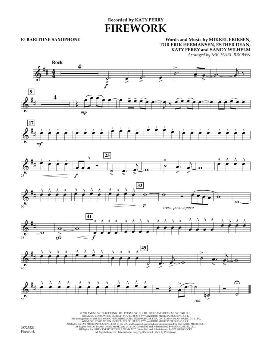 Firework - Eb Baritone Saxophone