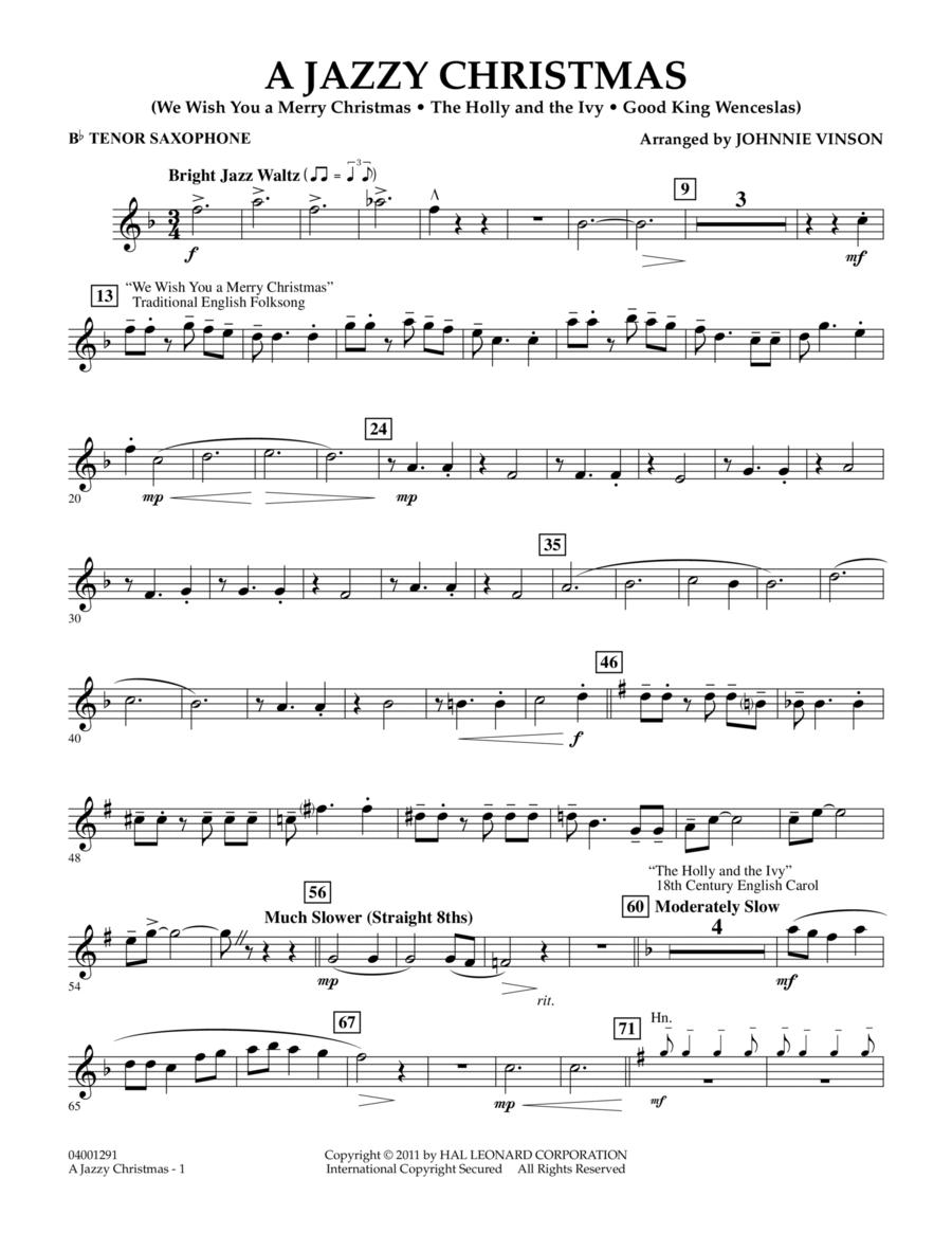 A Jazzy Christmas - Bb Tenor Saxophone
