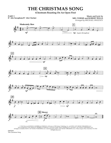 The Christmas Song (Chestnuts Roasting On An Open Fire) - Pt.3: Eb Alto Sax/Alto Clar.