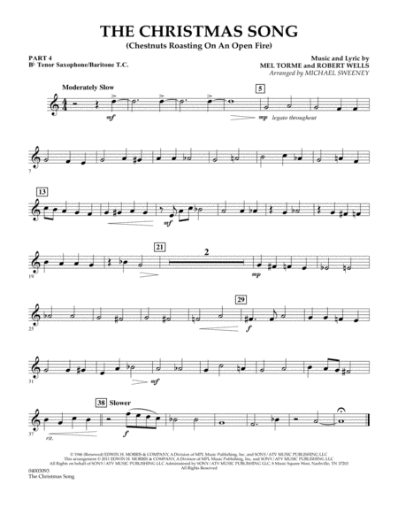 The Christmas Song (Chestnuts Roasting On An Open Fire) - Pt.4: Bb Tenor Sax/Bar. T.C.
