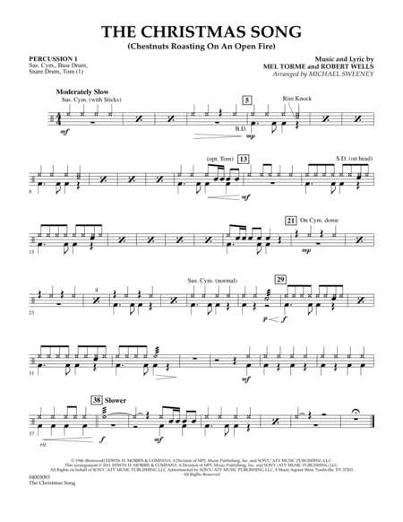 The Christmas Song (Chestnuts Roasting On An Open Fire) - Percussion 1