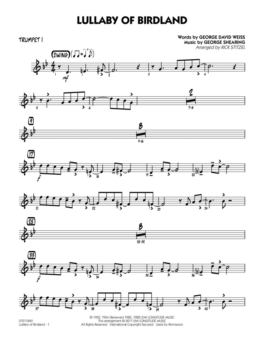 Lullaby Of Birdland - Trumpet 1