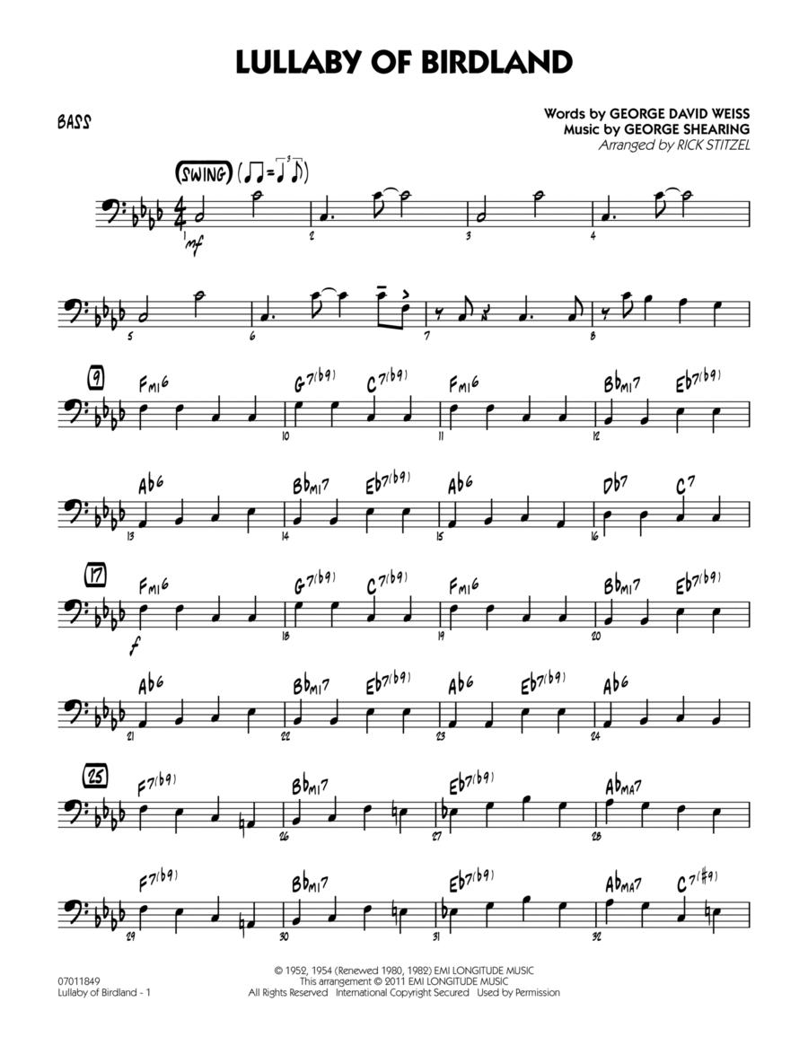 Lullaby Of Birdland - Bass