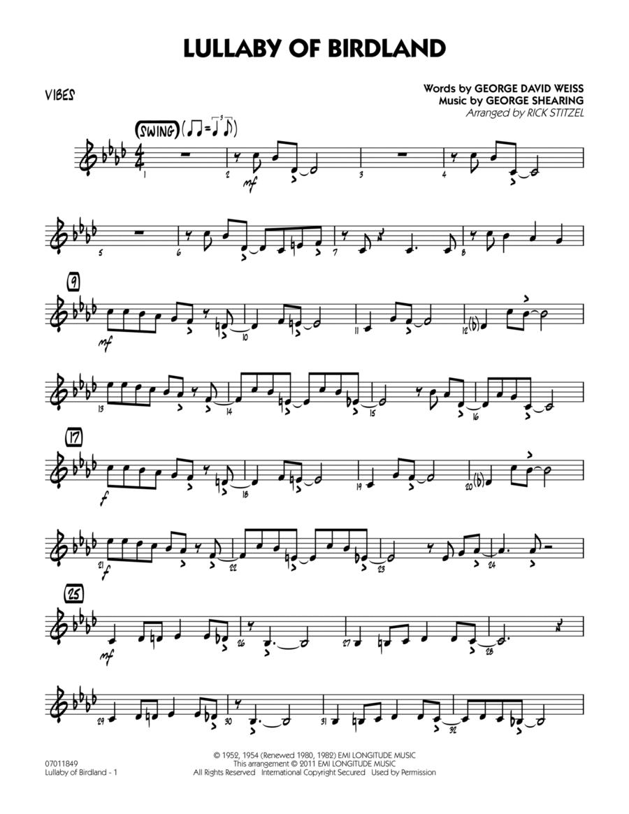 Lullaby Of Birdland - Vibes