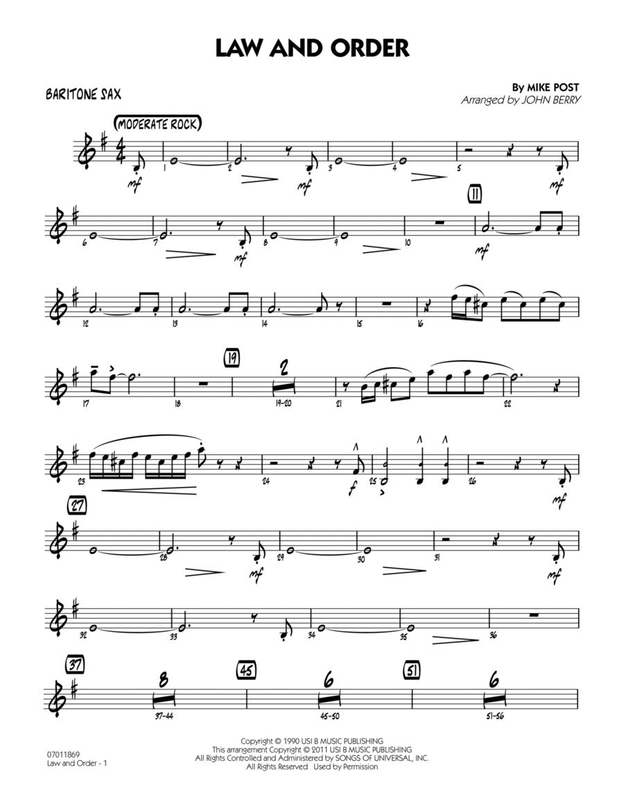 Law And Order - Baritone Sax