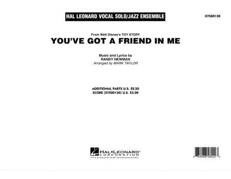 You've Got A Friend In Me - Conductor Score (Full Score)