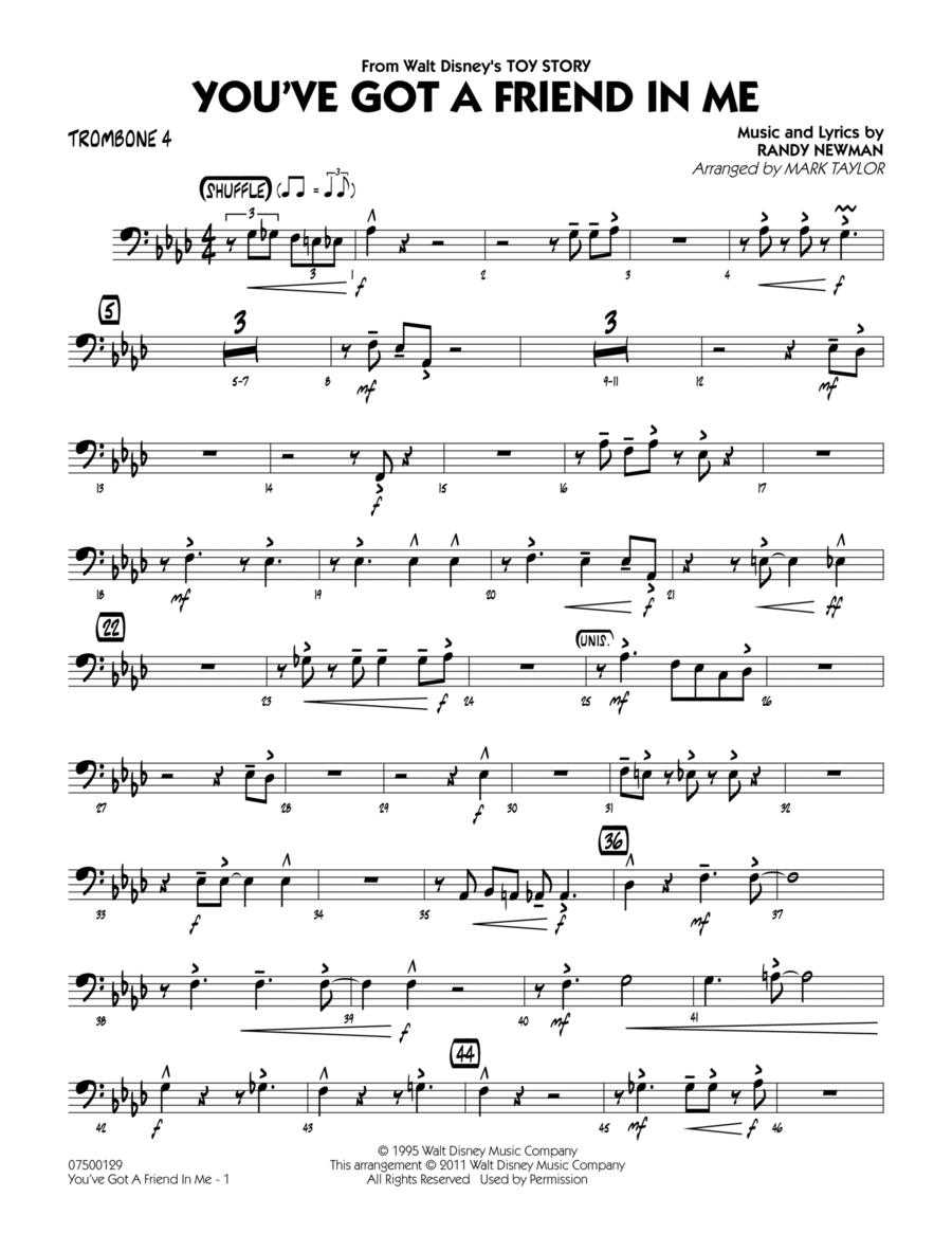 You've Got A Friend In Me - Trombone 4