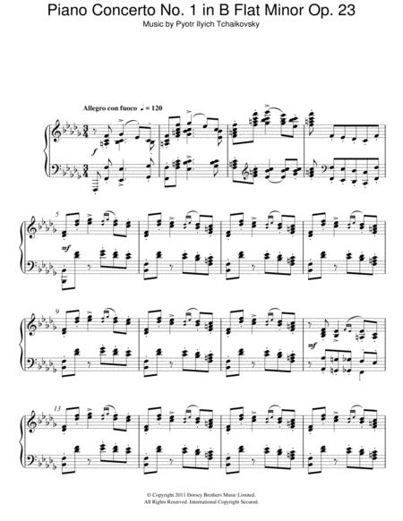 Piano Concerto No. 1 in B Flat Minor Op. 23