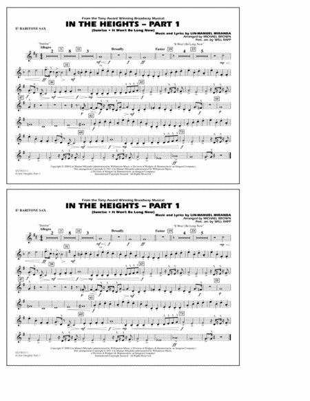 In The Heights: Part 1 - Eb Baritone Sax