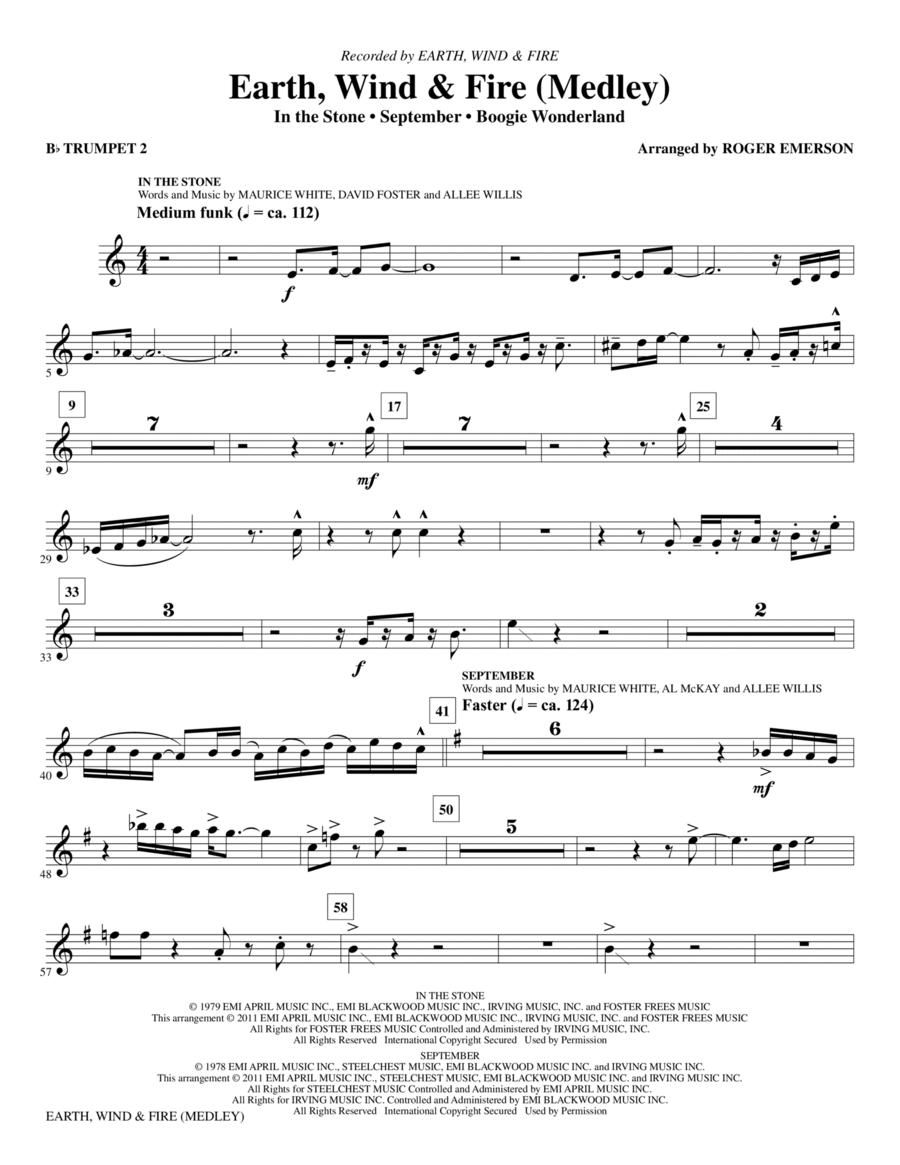 Earth, Wind & Fire (Medley) - Bb Trumpet 2