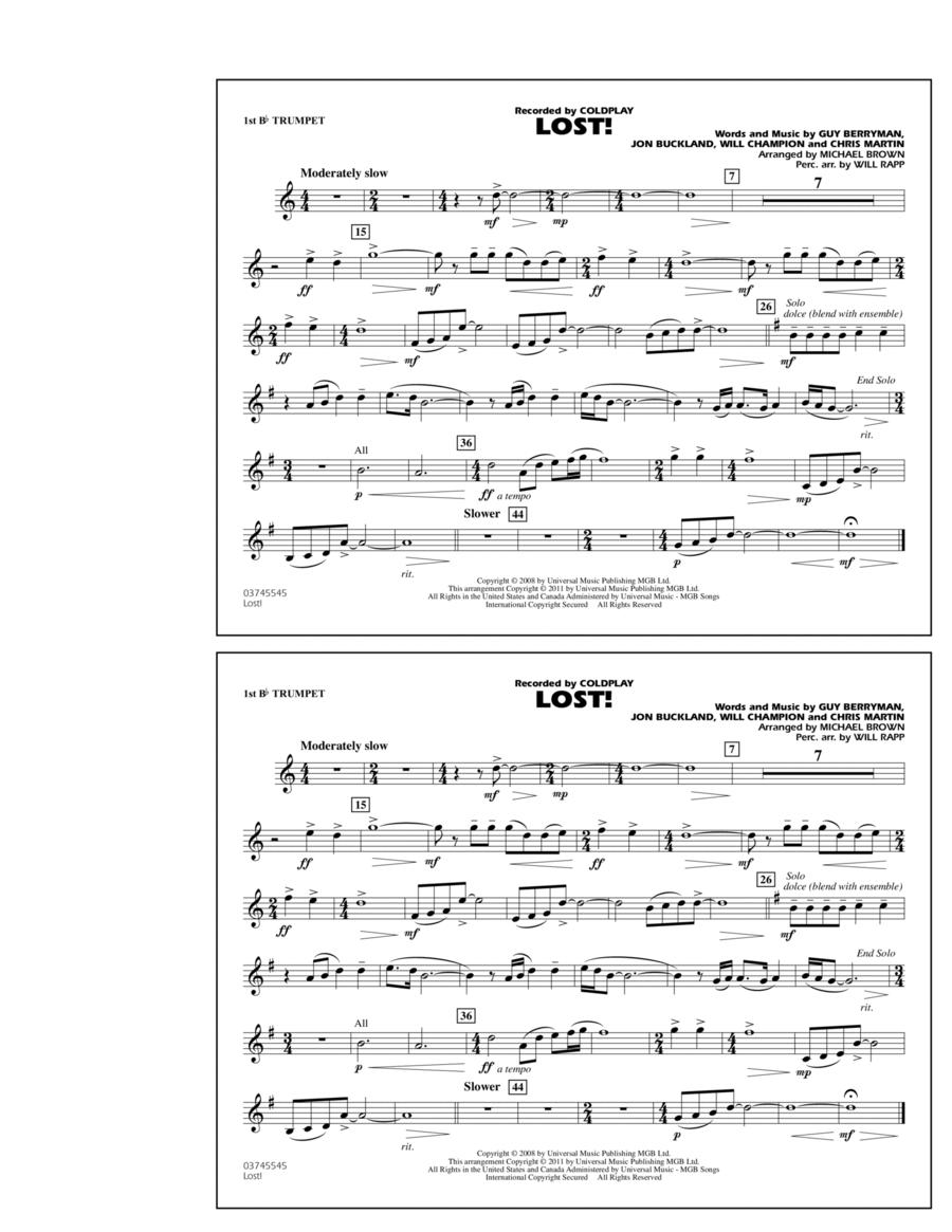 Lost! - 1st Bb Trumpet
