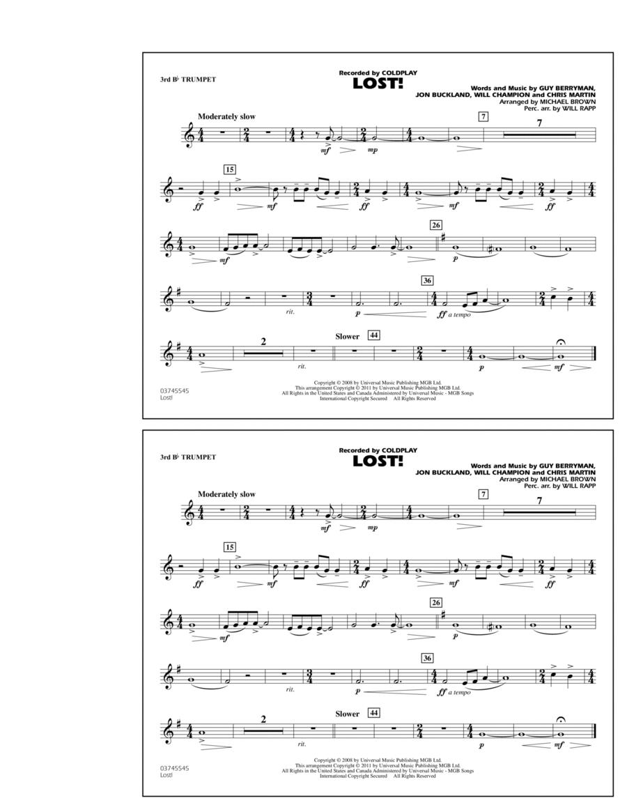 Lost! - 3rd Bb Trumpet