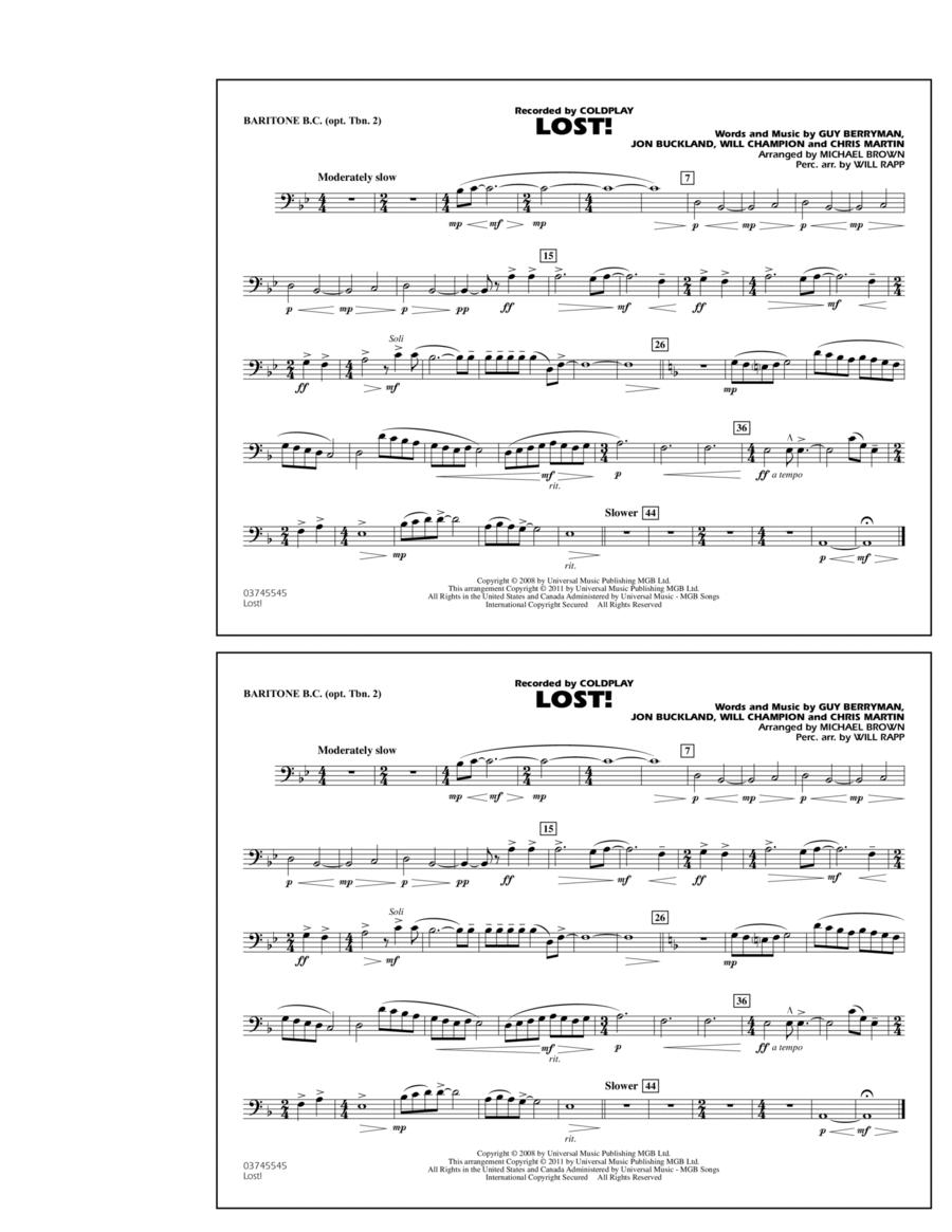 Lost! - Baritone B.C. (Opt. Tbn. 2)