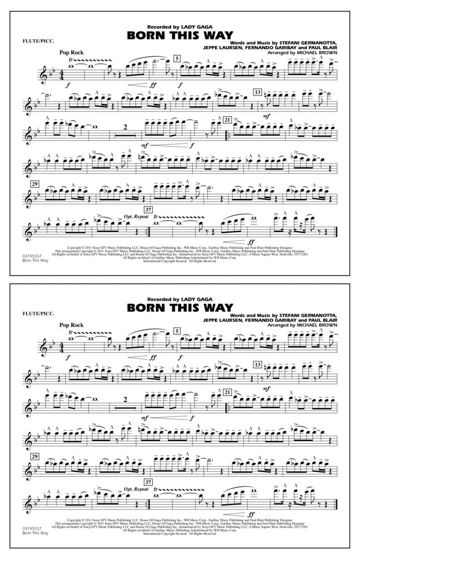 Born This Way - Flute/Piccolo