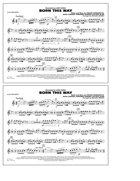 Born This Way - 1st Bb Trumpet