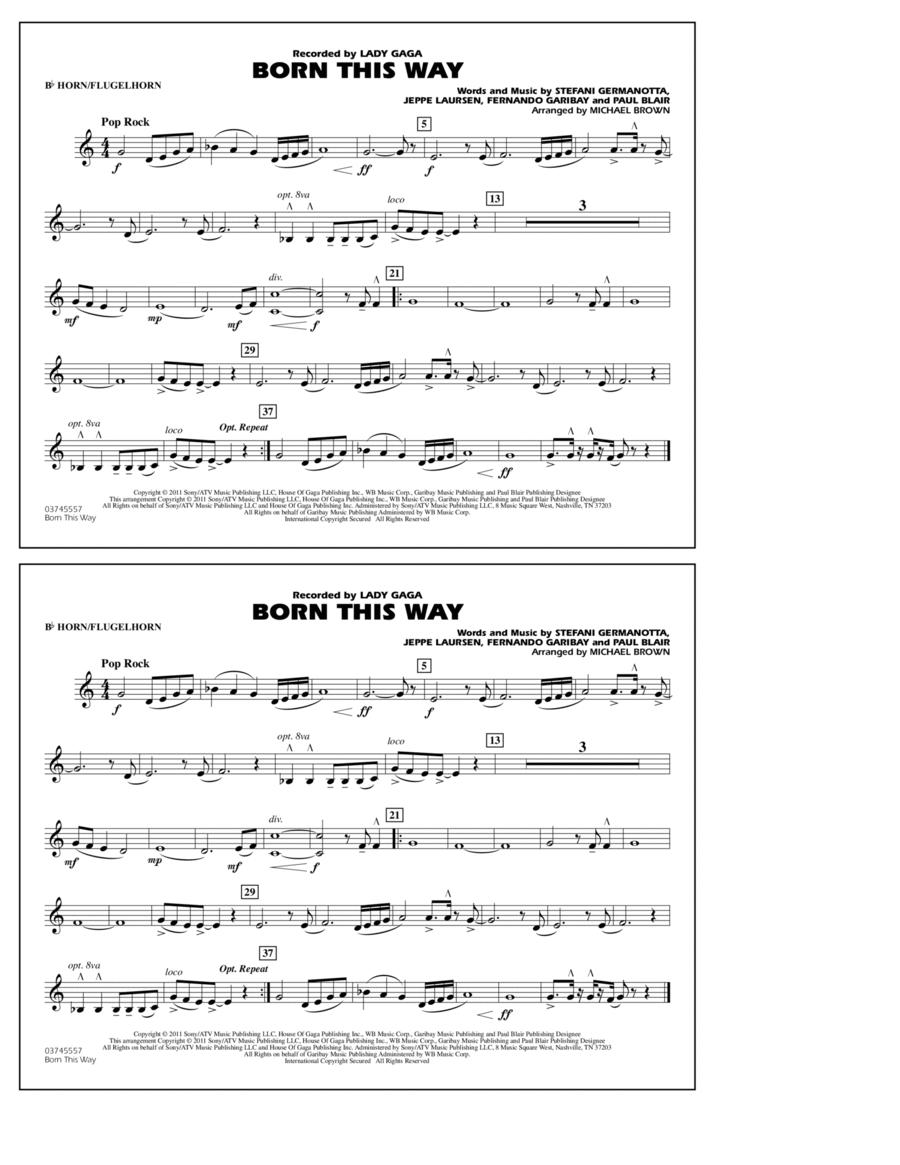 Born This Way - Bb Horn/Flugelhorn