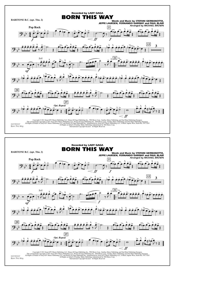 Born This Way - Baritone B.C. (Opt. Tbn. 2)