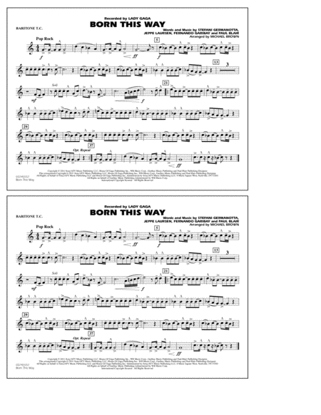 Born This Way - Baritone T.C.