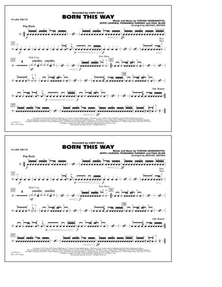 Born This Way - Snare Drum