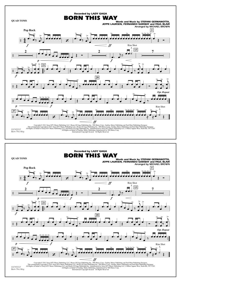 Born This Way - Quad Toms