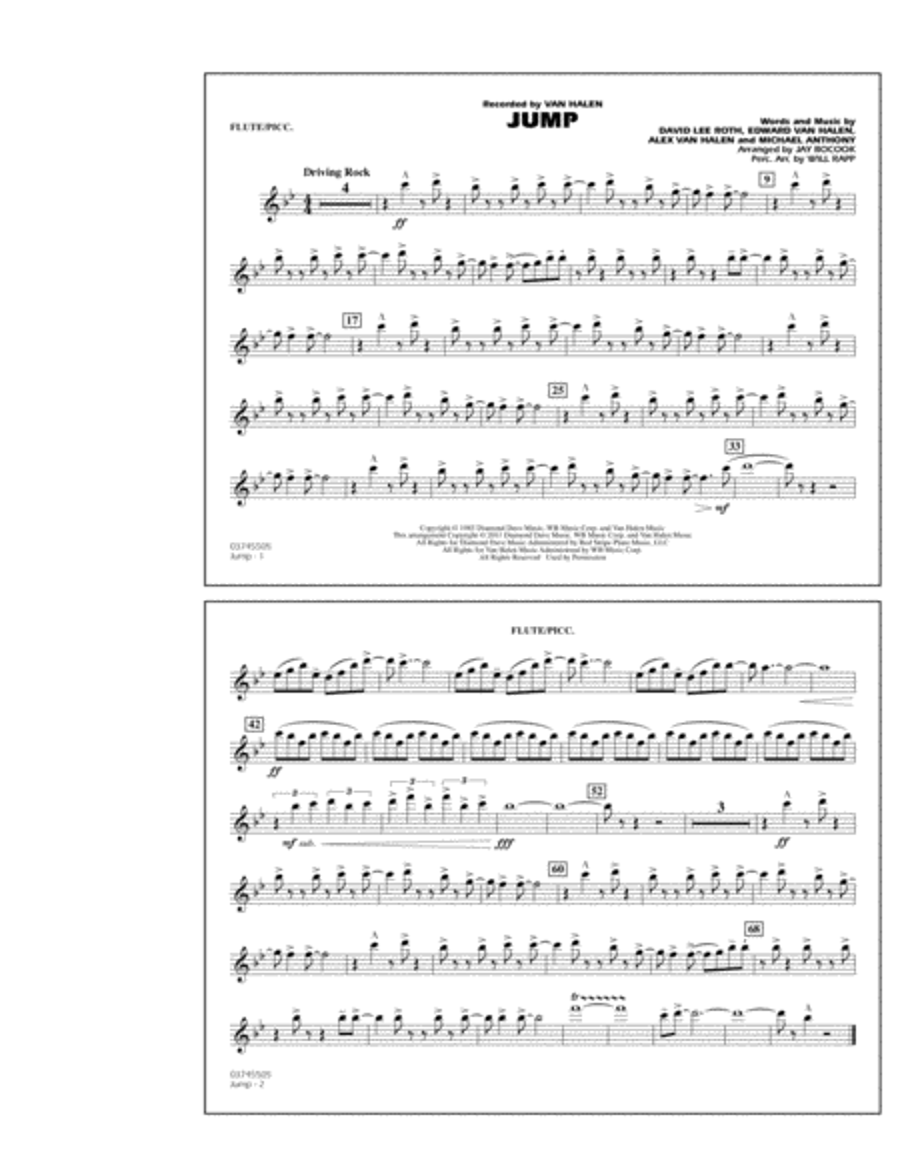 Jump - Flute/Piccolo