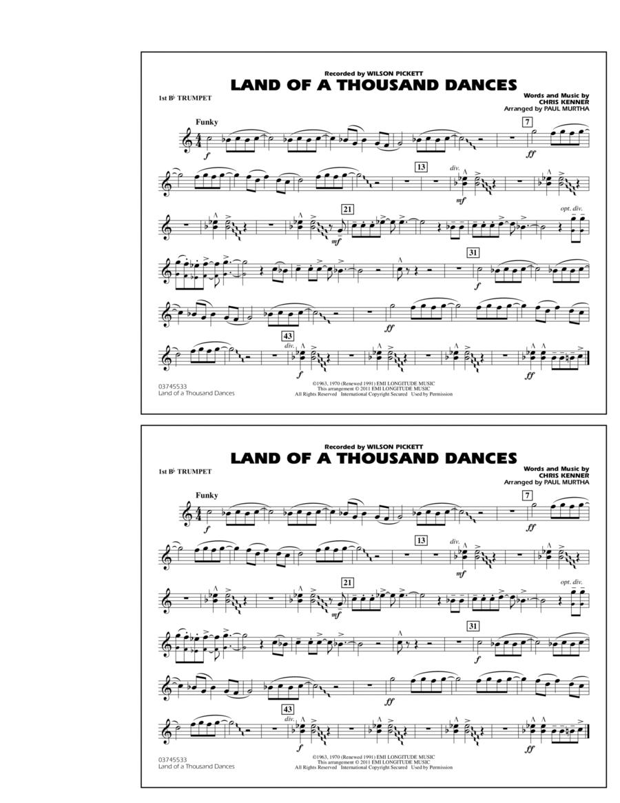 Land Of A Thousand Dances - 1st Bb Trumpet