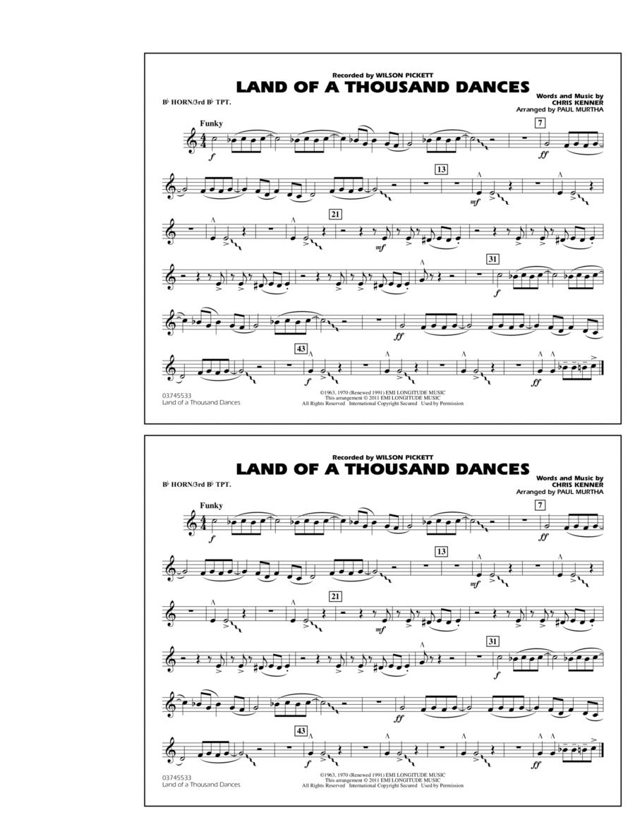 Land Of A Thousand Dances - Bb Horn/3rd Bb Tpt