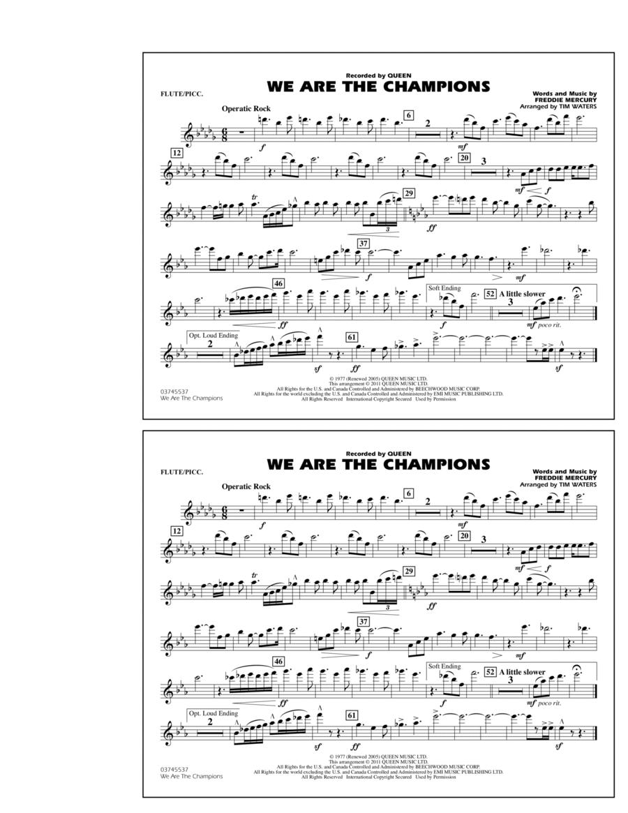 We Are The Champions - Flute/Piccolo